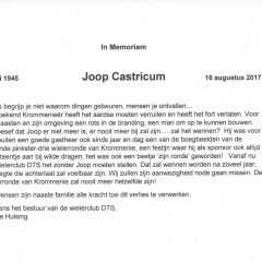In Memoriam Joop Castricum