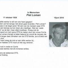 In Memoriam Piet Loman