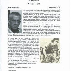 In Memoriam Piet Verdonk