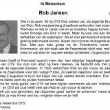 In Memorian Rob Jansen