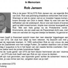 In Memorian Rob Jansen
