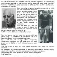 In Memoriam Fred Wijman